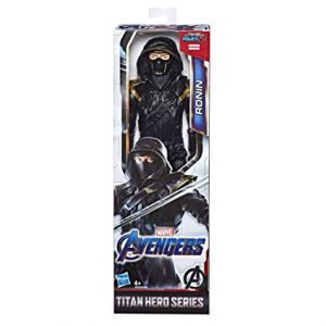 Imagine the highly-trained martial artist joining fellow Avengers in battle with this Ronin figure from the Titan Hero Series! When kids connect the Titan Hero Power FX launcher (not included; sold separately with Titan Hero Power FX figures) to this figure's arm port, they can activate character-specific sounds and phrases and launch projectiles!