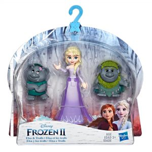 Disney Frozen Elsa Small Doll With Troll Figures Inspired by the Disney Frozen 2