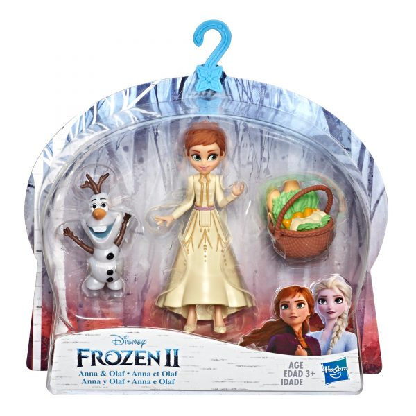 Disney Frozen Anna and Olaf Small Dolls With Basket Accessory, Inspired by the Disney Frozen 2
