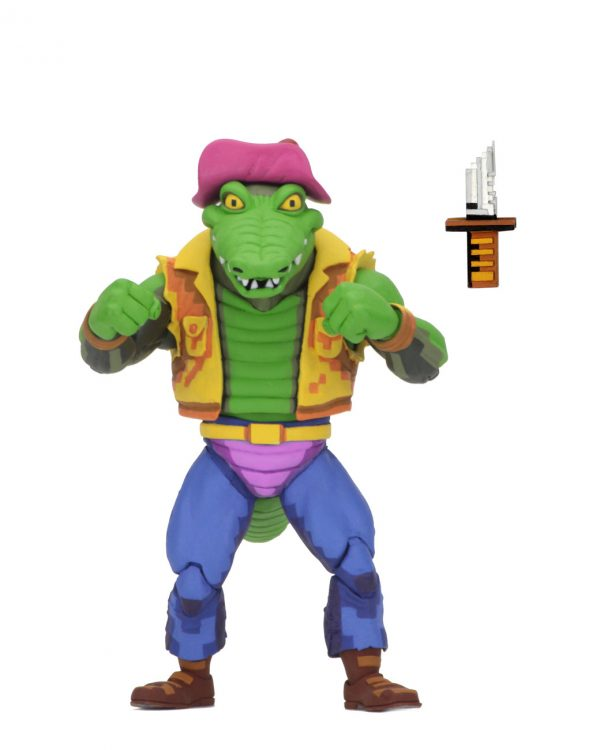 """From the classic 1990s Turtles in Time video game, we're excited to offer the next line-up of 7"""" scale action figures. Series 2 includes Michelangelo, Raphael, Leatherhead, and Super Shredder."""