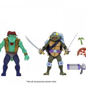 """Teenage Mutant Ninja Turtles - Cartoon Leatherhead & Slash 7"""" Action Figure 2-pack"""