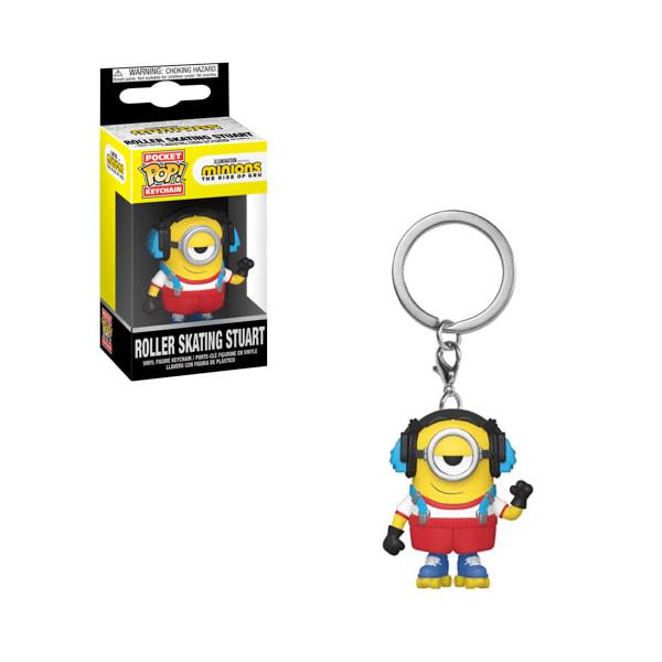 Minions 2: Rise of Gru - Stuart Skater Pocket Pop! Keychain