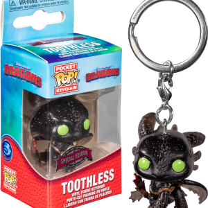 How to Train Your Dragon - Toothless US Exclusive Diamond Glitter Pocket Pop! Keychain
