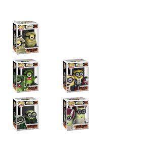 BUNDLE INCLUDES: - Frankenbob Pop! Vinyl Figure - Creature Mel Pop! Vinyl Figure - Bride Kevin Pop! Vinyl Figure - Mummy Stuart Pop! Vinyl Figure