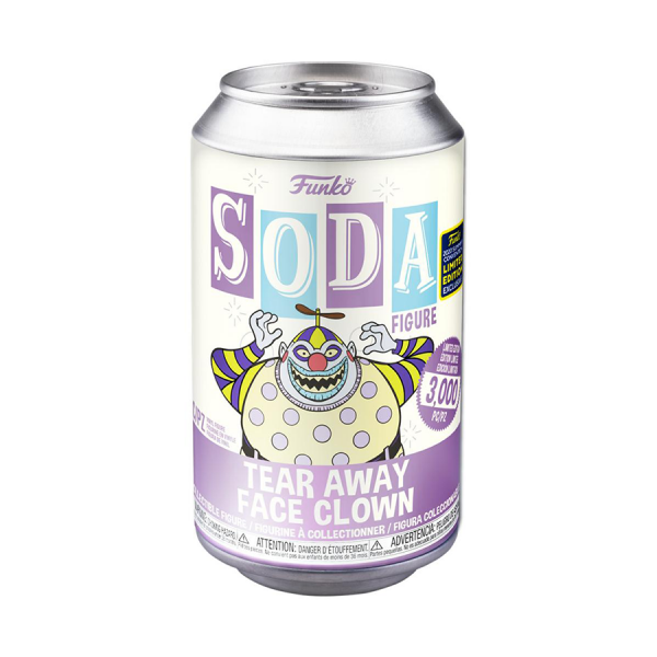 SDCC 2020 Exclusive Nightmare Before Christmas Clown Tearaway Face Funko Soda Figure