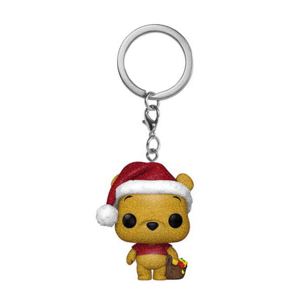Winnie the Pooh - Winnie the Pooh Diamond Glitter Holiday US Exclusive Pocket Pop! Keychain