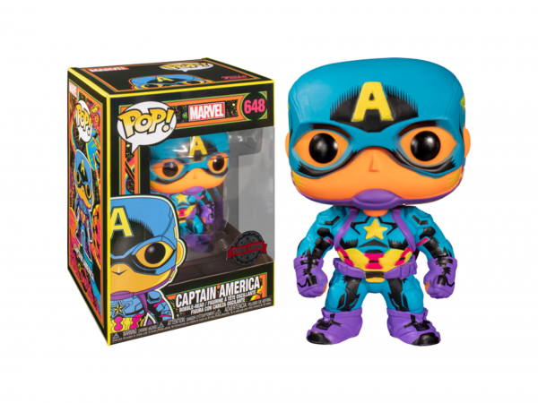 Captain America - Captain America Black Light US Exclusive Pop! Vinyl