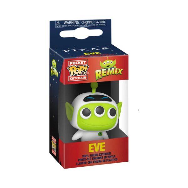 Pixar - Alien Remix Eve Pocket Pop! Keychain