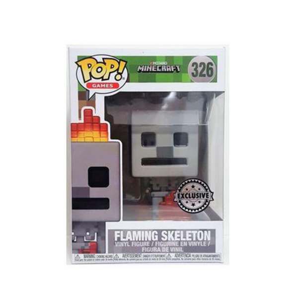 Minecraft - Skeleton with Fire US Exclusive Pop! Vinyl