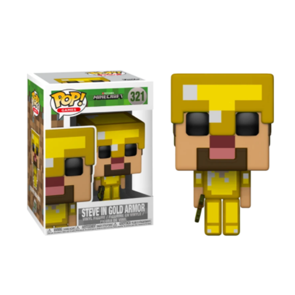 Minecraft - Steve with Gold Armor & Axe US Exclusive Pop! Vinyl