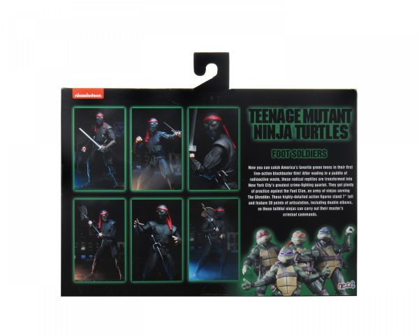 "Teenage Mutant Ninja Turtles (1990) - Foot Soldier 7"" Action Figure 2-pack"