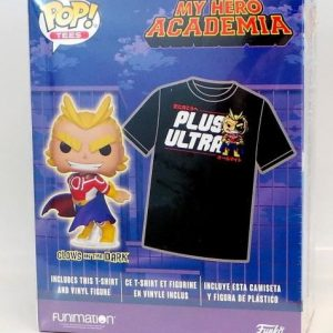 FUNKO MY HERO ACADEMIA POP! TEES PLUS ULTRA T-SHIRT & SILVER AGE ALL MIGHT GLOW-IN-THE-DARK VINYL FIGURE BOX SET HOT TOPIC EXCLUSIVE