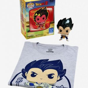 Funko Pop! Tees Dragon Ball Z Vegeta Saiyan Prince (Metallic) Box Set