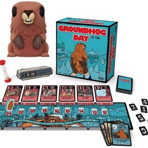 Groundhog Day - The Game & Punxsutawney Phil Flocked US Exclusive Pop! Vinyl Bundle