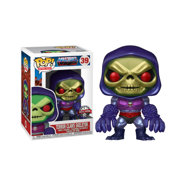 Masters of the Universe - Skeletor with Terror Claws Metallic US Exclusive Pop! Vinyl