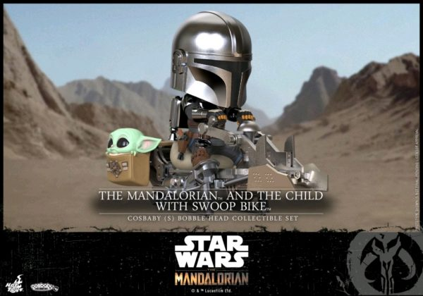 Star Wars: The Mandalorian - Mandalorian & The Child on Swoop Bike Riding Cosbaby
