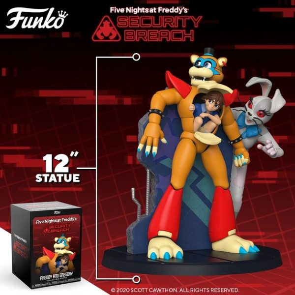 "Five Nights at Freddy's: Security Breach - Freddy & Gregory 12"" Vinyl Statue"
