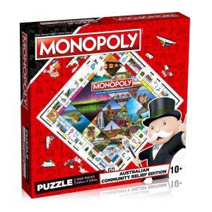 Australian Community Relief - Monopoly 1000 Piece Jigsaw Puzzle