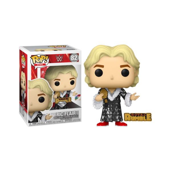 WWE - Ric Flair Royal Rumble '92 Diamond Glitter US Exclusive Pop! Vinyl with Enamel Pin
