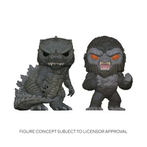 Godzilla vs Kong - Godzilla & Kong US Exclusive Pop! Vinyl 2-pack
