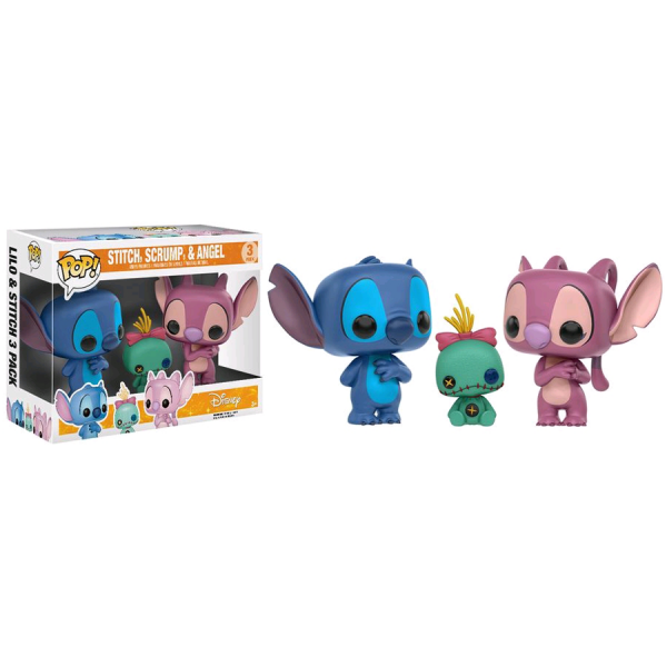 Lilo & Stitch - Stitch, Scrump & Angel US Exclusive Pop! Vinyl 3-Pack