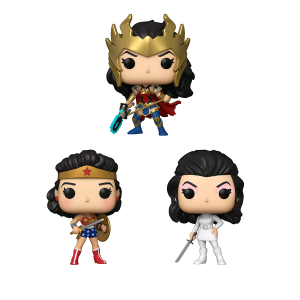 Wonder Woman - 80th Anniversary Pop! Vinyl Bundle (Set Of 3)