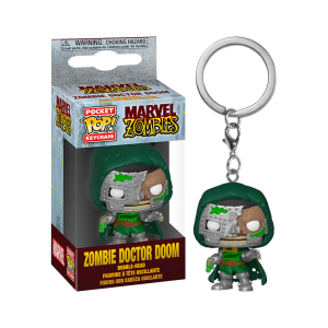 Marvel Zombies - Dr Doom Pocket Pop! Keychain
