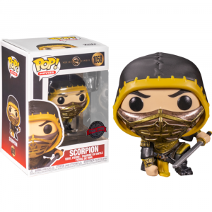 Mortal Kombat (2021) - Scorpion Crouch Metallic US Exclusive Pop! Vinyl [RS]
