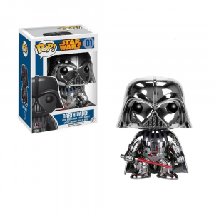 Star Wars - Darth Vader #01 Chrome US Exclusive Pop! Vinyl (Rare)