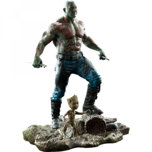"""Guardians of the Galaxy: Vol.2 - Drax & Groot Marvel Gallery 10"""" PVC Diorama Statue"""